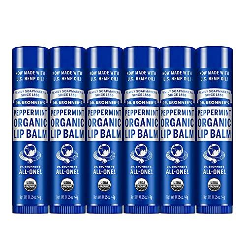 Dr. Bronners 6 Pack Organic Lip Balm