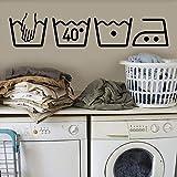 Onlymygod lavadora signo etiqueta de la pared decoración del hogar tallado a prueba de agua se puede quitar 58x45cm