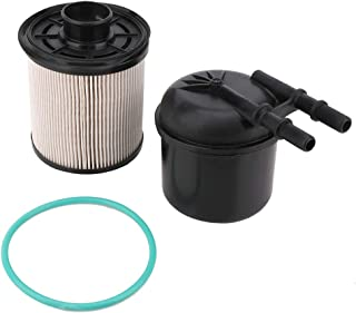 5 Micron 6.7 Powerstroke Fuel Filter Water Separator Kit, Fit for 2011-2016 Ford F-250 F-350 F-450 F-550 Super Duty 6.7L V8 Diesel, Replace # FD-4615 BC3Z-9N184-B