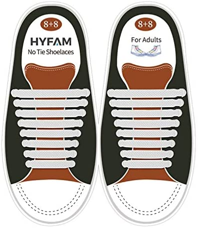 HYFAM No Tie Shoe Laces For Adults Elastic Waterproof Tieless Running Shoe Laces No Tie Shoelaces product image