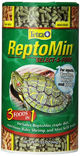 Tetra ReptoMin Select-A-Food 1.55 Ounces, For Aquatic Turtles, Newts And Frogs, Variety Pack (29253)