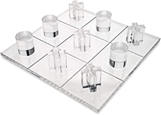 OnDisplay 3D Luxe Acrylic Tic Tac Toe Set, Clear