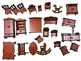 HorBous Muebles de Madera para Casa de Muñecas 23 Piezas Puzzle de Madera 3D para Niños
