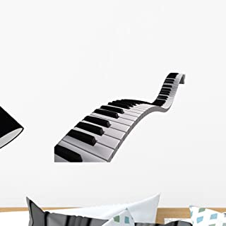 Wallmonkeys Piano Keyboard Floating Wall Decal Peel and Stic