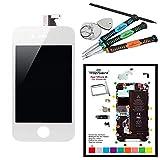 Trop Saint Ecran Blanc pour iPhone 4S - Kit de Réparation avec Tapis de Repérage...