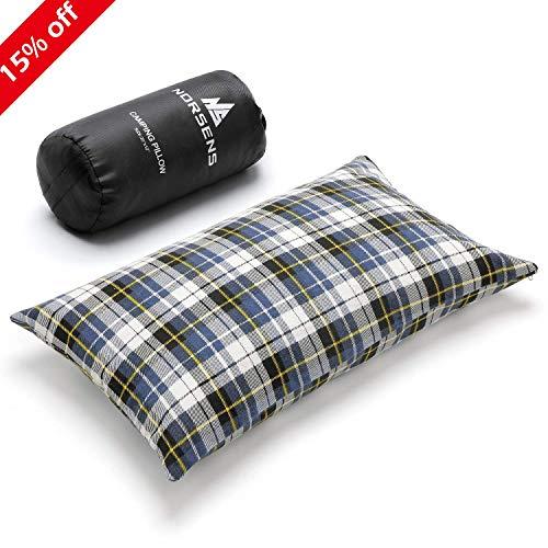 Norsens 封筒型 軽量 寝袋 コンパクト シュラフ 収納袋付き (枕ブルー)