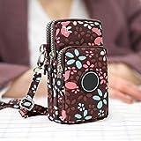 Ysoom Phone Tasche, Multifunktionale Handy Tasche 3 Schichten Crossbody Schulter Mini Handtasche wasserdicht Nylon Wristlet Purse 17 * 9 * 9 cm