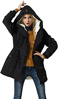 15b2bf54f3e Eleter Women s Winter Warm Coat Hoodie Parkas Overcoat Fleece Outwear Jacket  with Drawstring
