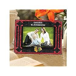 The Memory Company NHL Blackhawks Art Glass Horizontal Frame, One Size, Multi