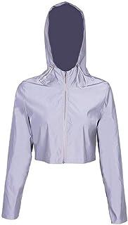 Luckya 反射服 リフレクティブセットスーツリフレクティブレディースフーディーリフレクトスウェットシャツとスリムタイプのスリムタイプのスリムなタイプのスリムタイプのヒップホ...