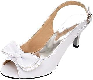 Artfaerie Escarpin Petit Talon Moyen Kitten Heels Bride Cheville Bout Ferm/é Chaussure 5cm