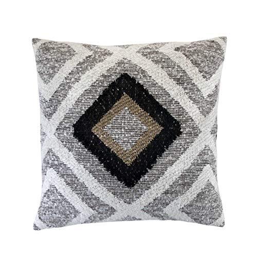 Bella Maison Bogart - Cojín decorativo para sofá, con relleno de cojín, tamaño: 45 x 45 cm, en beige, certificado Öko-Tex