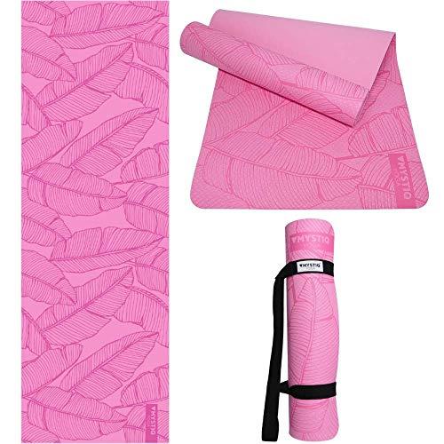 Esterilla de yoga Start, de espuma TPE Premium, ligera, gruesa y grande, muy antideslizante, no se desliza, ecológica, no tóxica, pilates, fitness y gimnasio, incluye correa (Jungle Spirit Pink)