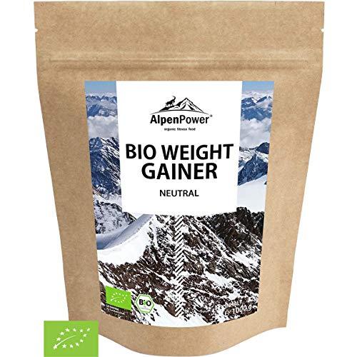 ALPENPOWER | BIO WEIGHT GAINER | 100% natürliche Zutaten | Ohne Zusatzstoffe | Hochwertiges Protein | Komplexe Kohlenhydrate | Muskelaufbau | Organic Weight Gainer | 1000 g