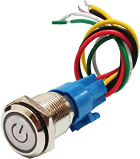 FLAMEER 16mm 220V zelfhoudend LED verlichte schakelaar drukknop drukknop