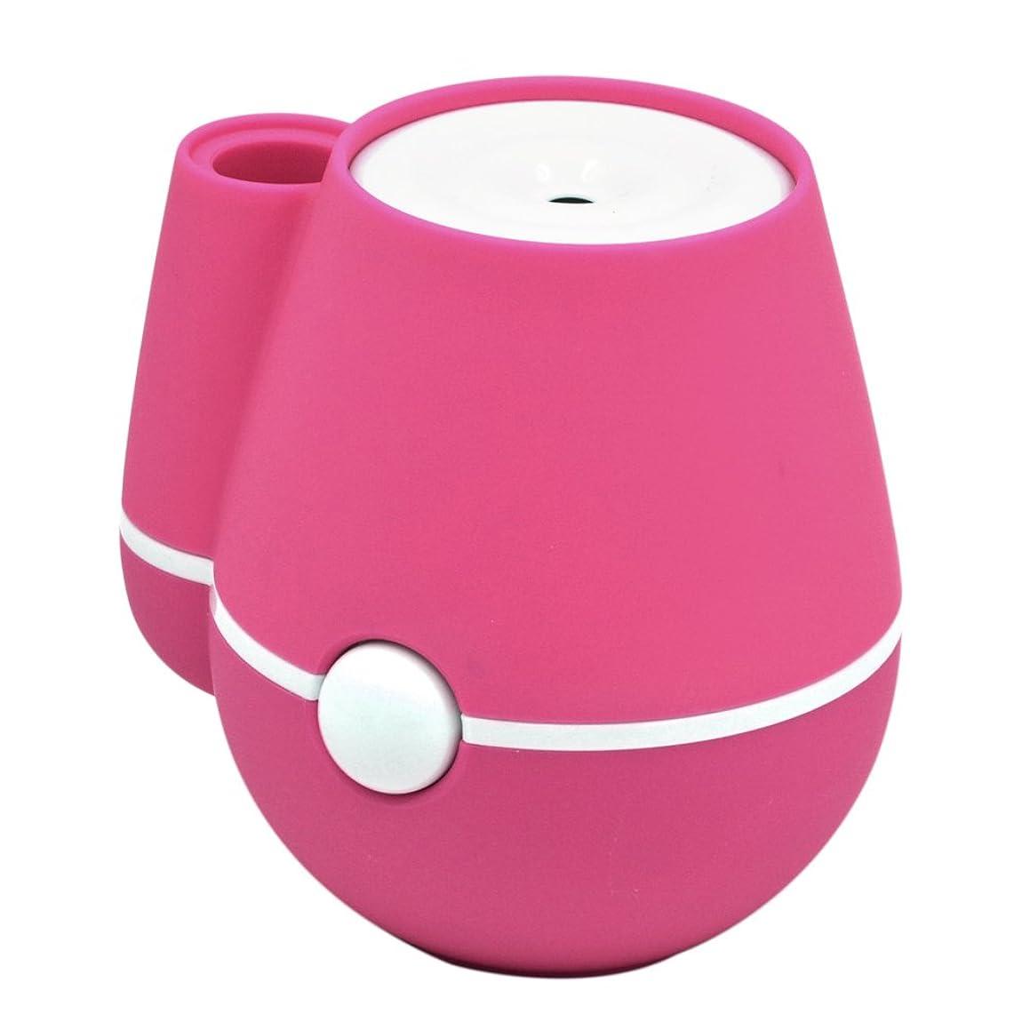 存在ボイコット想起ゴシレ [Gosear] ミニ花瓶空気加湿器ポータブルクール霧化加湿器ミュート USB 操作オフィスファミリーベッドルーム―(ピンク)
