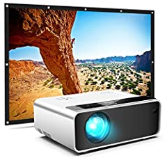 【 SUPERIOR MOVIE EXPERIENCE 】 CiBest home video projector is 80% brighter than other mini projectors at the same price. Support up to 1080P, 2000:1 contrast ratio, provides an incredibly lifelike image for videos and movies, you may enjoy the happy t...