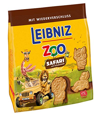 Leibniz Zoo Safari Butterkekse mit Schokolade, 100 g