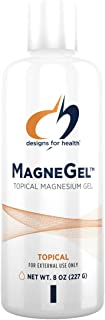 Designs for Health MagneGel Topical Magnesium Gel - Transdermal Magnesium Chloride Gel May Support Skin + Muscles - Apply ...
