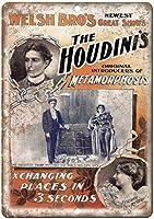 Welsh Bro's Houdini's Metamorphosis ティンサイン ポスター ン サイン プレート ブリキ看板 ホーム バーために