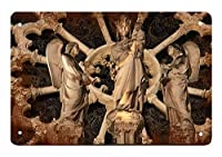 ノートルダム寺院ブリキマークレトロお笑い生物鉄絵金属板個性新奇