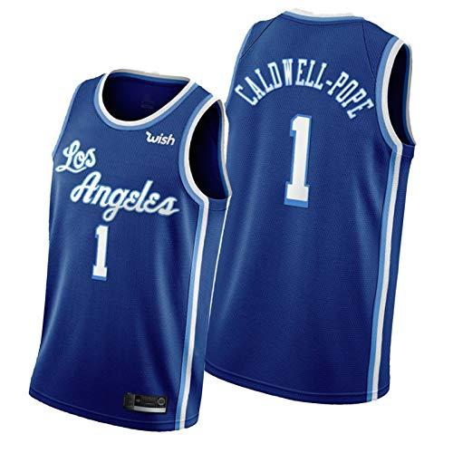 WXZB Camiseta de baloncesto Laker # 1 Papst, transpirable y de secado rápido, adecuada para diferentes deportes, azul - M