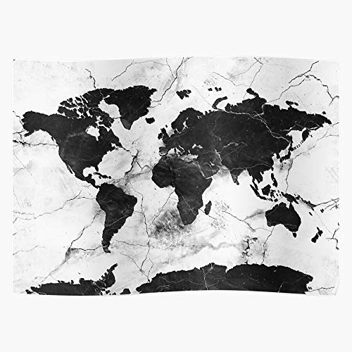 Generic The and World Black White Texture Map Abstract Marble of Home Decor Wandkunst drucken Poster !