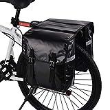 WILDKEN Alforjas para Portaequipajes de Bicicleta, Bolsas Traseras para Bicicletas MTB Sillines Pannier Bag Impermeable Bicicleta Carretera Asiento Trasero (Negro)
