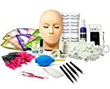mcwdoit Lash Eyelash Extension Kit, Professional Mannequin Head Training For Beginners Eyelashes...