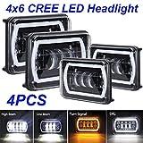 LEDUR 4x6 LED Headlights Rectangle Sealed...