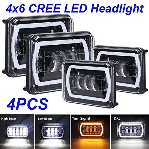 LEDUR 4x6 LED Headlights Rectangle Sealed Beam 4x6 Inch CREE LED...