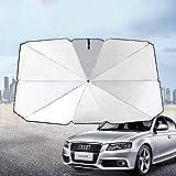 Rivetino New Car Sun Shade Umbrella Foldable Convenient Sunshade Sun Auto Windshield UV Block Sun Visor Cover to Keep Your Vehicle Cool