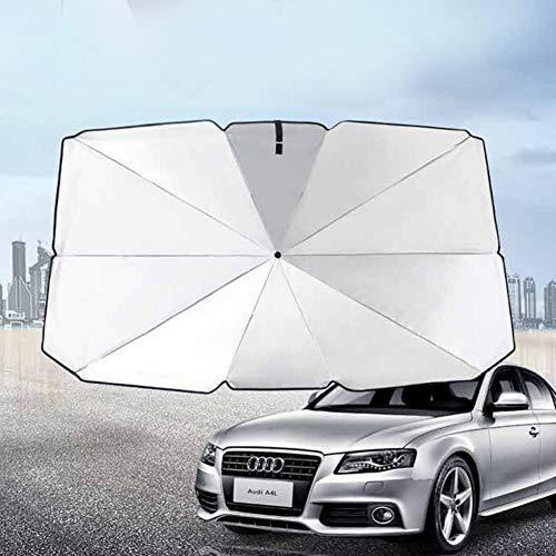 wenhe - Paraguas para el sol del coche, paraguas, reflectante, plegable, protección UV, protección contra rayos ultravioleta, protección solar