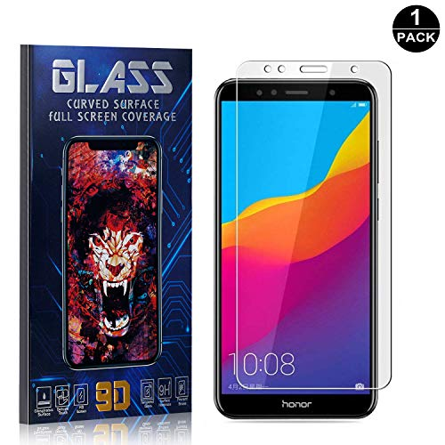 Bear Village Screen Protector for Huawei Honor 7A, Scratch Resistant 9H Hardness, Ultra Thin Tempered Glass Screen Protector Film for Huawei Honor 7A, 1 Pack