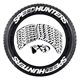 Autoreifen-Aufkleber, SPEED HUNTERS 3D-Stereo Reifen-Aufkleber, Rad-Aufkleber-Set, Autoreifen, Personalisierbar, Styling-Reifen-Etikett, Auto-Universal-Reifen-Aufkleber Reifen-Buchstabe Dekorative