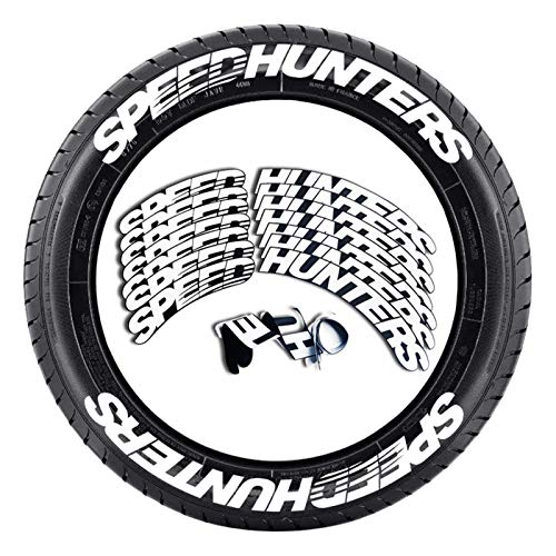DETTELIN 8 Pack Tire Letter Decals, Unique Tire Lettering Kit DIY Car Tire Letter Decals for Car Motorcycle Tire Decoration, Speed Hunters/NANKANG (SPEEDHUNTERS)