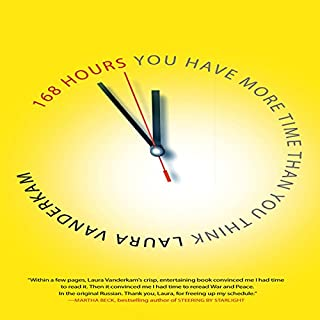 168 Hours      You Have More Time Than You Think              By:                                                                                                                                 Laura Vanderkam                               Narrated by:                                                                                                                                 Elizabeth London                      Length: 7 hrs and 48 mins     28 ratings     Overall 4.4