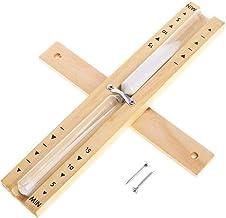 Gobesty Sablier sauna en bois 15 minutes - Accessoire de sauna - Minuteur avec sablier rotatif - Résistant à la chaleur - ...