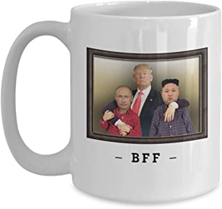 Trump Putin Jong-Un BFF Coffee Mug, Funny Political Satire Gift