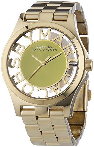 Marc Jacobs - Reloj Analógico de Cuarzo para Mujer, Correa de Acero Inoxidable Color Dorado