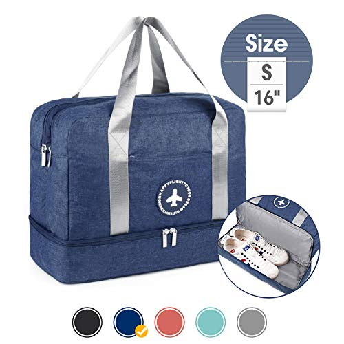 16' Gym Bag Sports Duffle 20L with Large Wet Pocket and Shoes Compartment for Swim Sports...