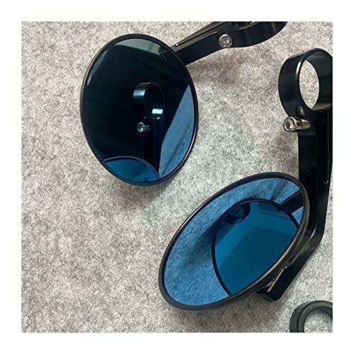 Espejo De Motocicleta, Manija De Aluminio, Extremo De Barra, Espejos Retrovisores, Accesorios para Vespa GT GTS GTV 60 125 200 250 300 300ie (Color : Negro)