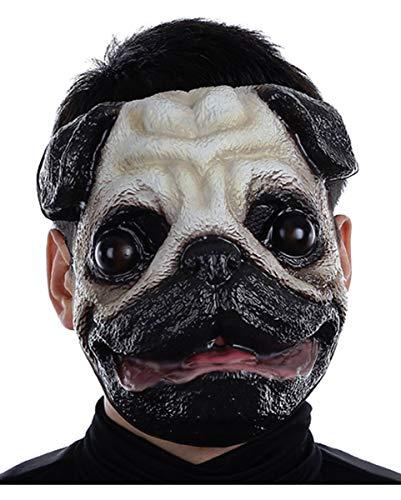 chien Pug masque en plastique