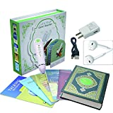 EQ Digital Quran Pen 8gb Memory Downloading Reciters and Languages English Arabic Urdu French Spanish German Etc,with 6 Holy Quran Books for Kid and Arabic Muslims Learner