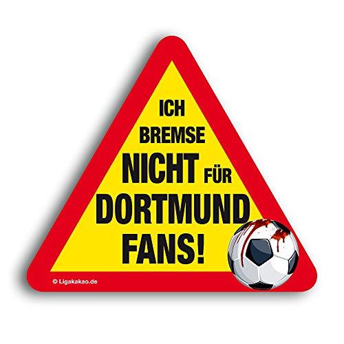 Kfz-Aufkleber Ich Bremse Nicht für Dortmund-Fans | Für mehr Spaß im Verkehr für alle Schalke-, FC Bayern- & Fußball-Fans | Vereinsaufkleber - PKW Auto Kfz Aufkleber