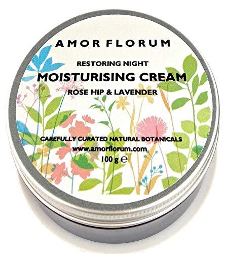 Naturale CREMA DA NOTTE per il VISO IDRATANTE con ROSA CANINA & LAVANDA - 100 g di AMOR FLORUM -...
