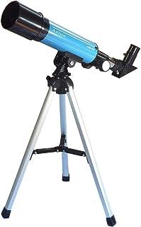 MIZAR(ミザールテック) 天体望遠鏡 屈折式 50mm 口径 コンパクトタイプ 経緯台 三脚 セット ブルー AR-50BL