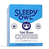 100% Arabica Coffee Brew fresh hot Coffee. No equipment required. Brew anywhere! Each pack makes 1 solid cup of Sleepy Owl Coffee Proprietary filter bag - Flavour seeps through. Grounds Stay out. Stays fresh for 12 months, stored in a cool and dry pl...