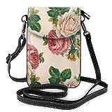 Lilyo-ltd Handtasche für Damen, mit Rosenmuster, rustikal, Shabby Rose, Rosa