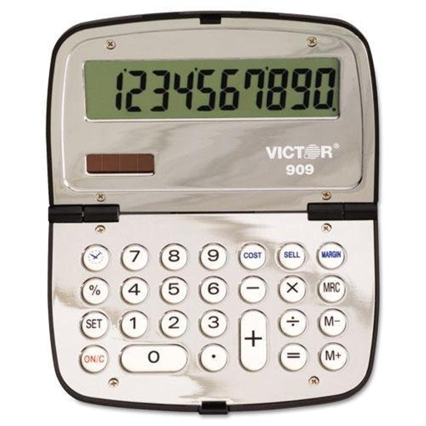 パラシュート論理懐疑的Victorテクノロジー909ハンドヘルドコンパクト10桁電卓、LCD (909?)